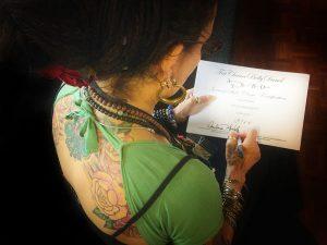 Carolena Signing General Skills Certificate